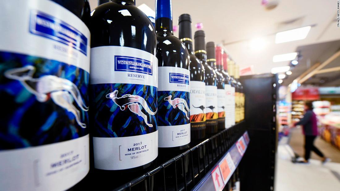 China slaps duties on Australian wine for 5 years as trade spat escalates
