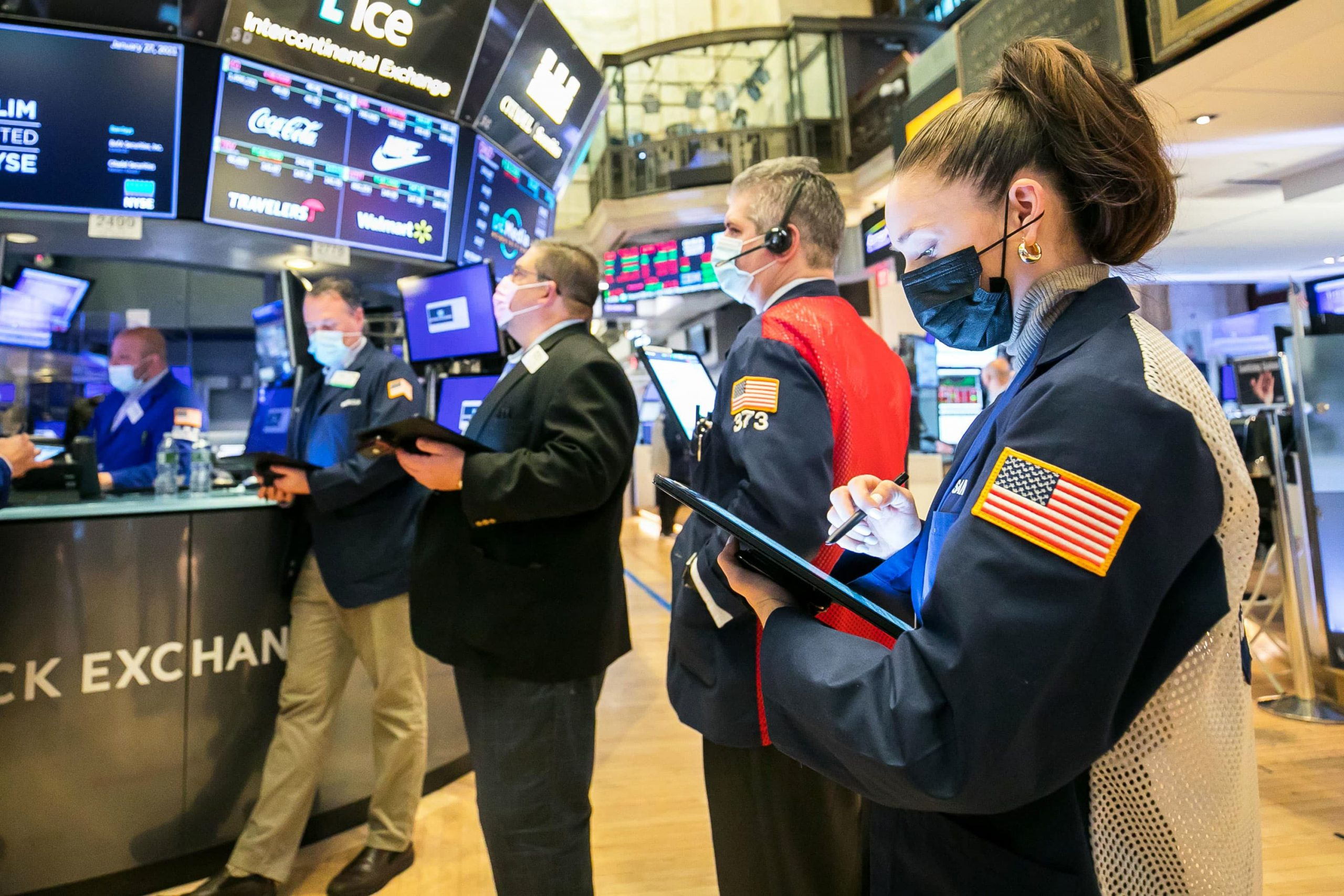 Treasury yields fall as stocks trade near record highs