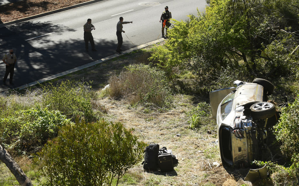 Golfer was speeding as fast as 87 mph before crash, cops say
