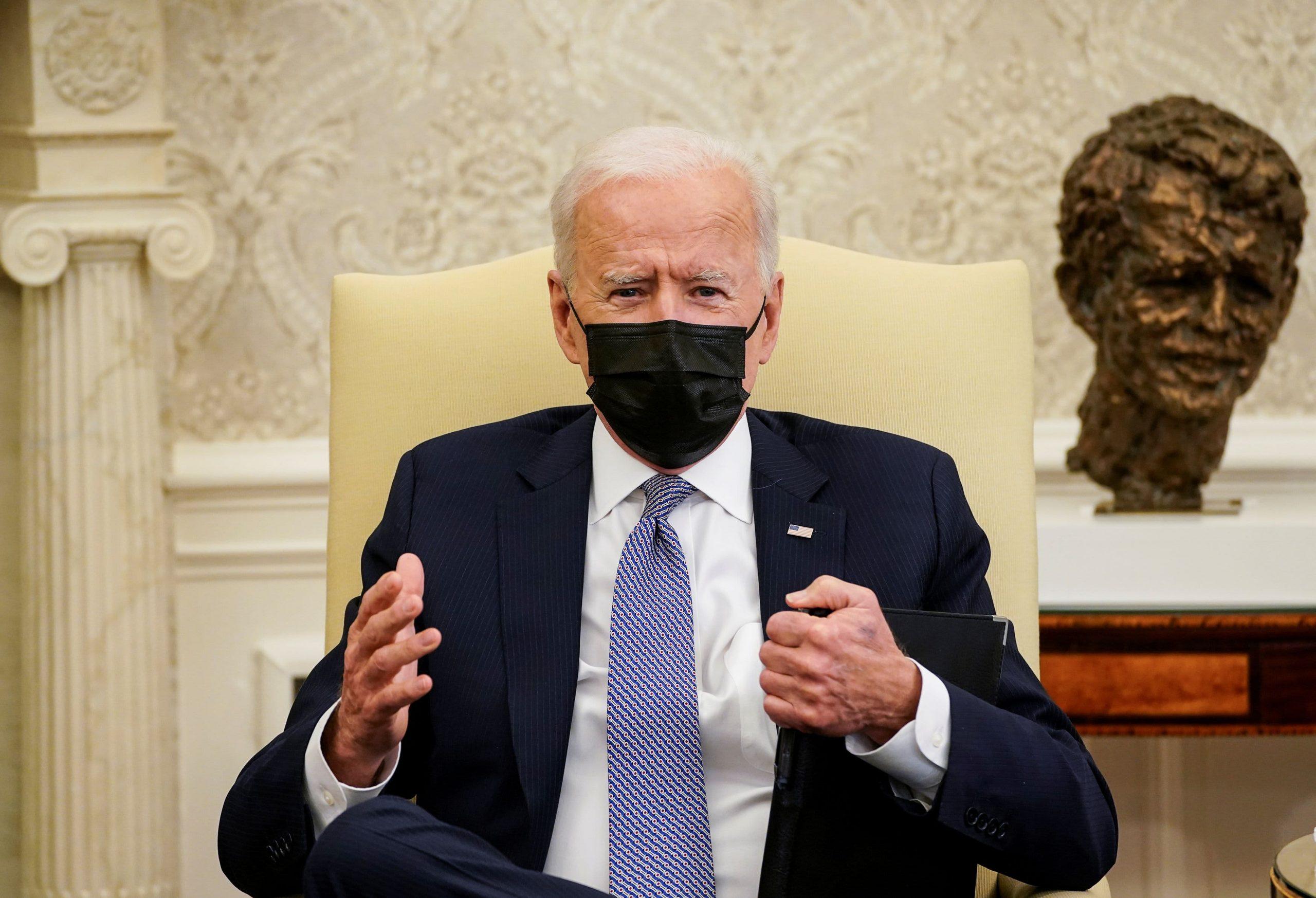 Biden says he is willing to negotiate infrastructure plan