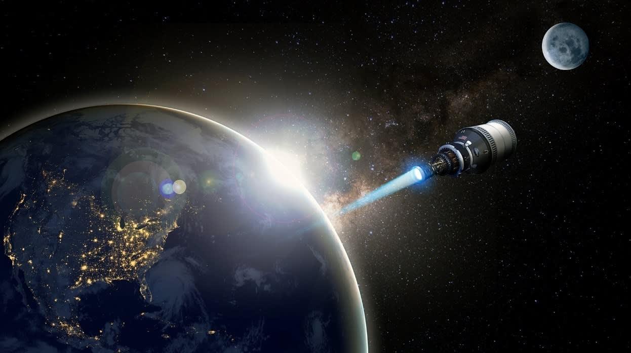DARPA nuclear spacecraft Lockheed, Bezos' Blue Origin, General Atomics