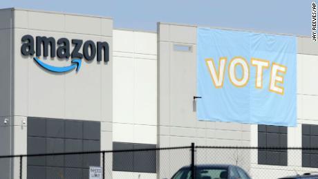 Amazon is on edge over Alabama union vote
