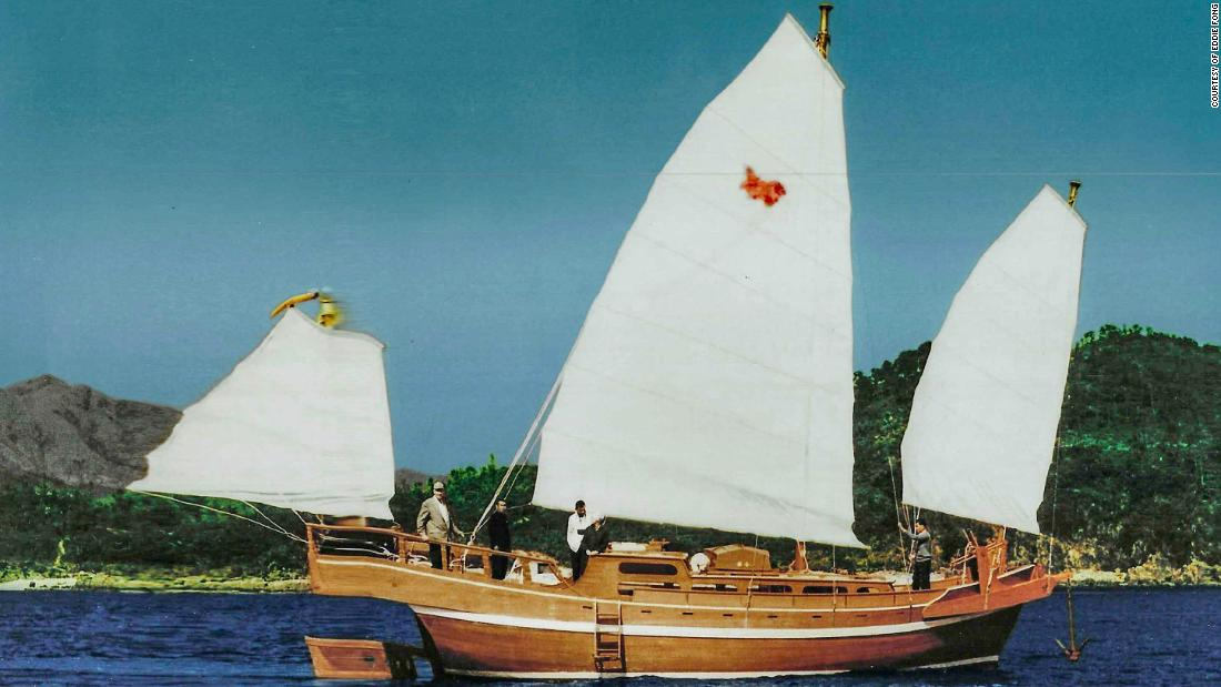 With just $21 he sailed to a new life in America with a tiny wooden boat