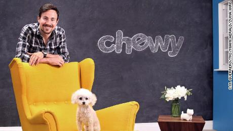 Ryan Cohen and his poodle Tylee back in Cohen's Chewy days
