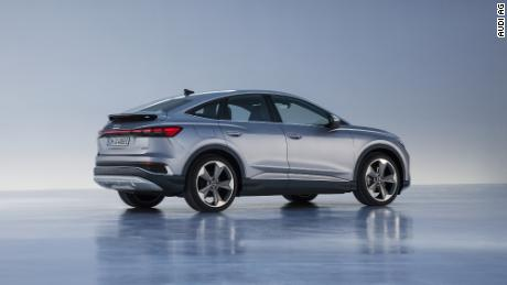The Audi Q4 Sportback E-Tron will have a sloped rear that gives this version somewhat better aerodynamics.