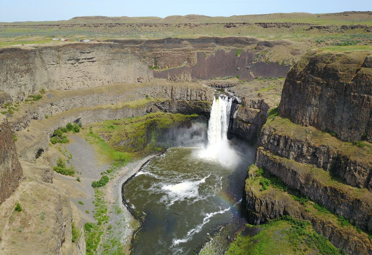 "Condé Nast Traveler names Washington's Palouse Falls one of ""eight waterfalls in the U.S. worth traveling for"""