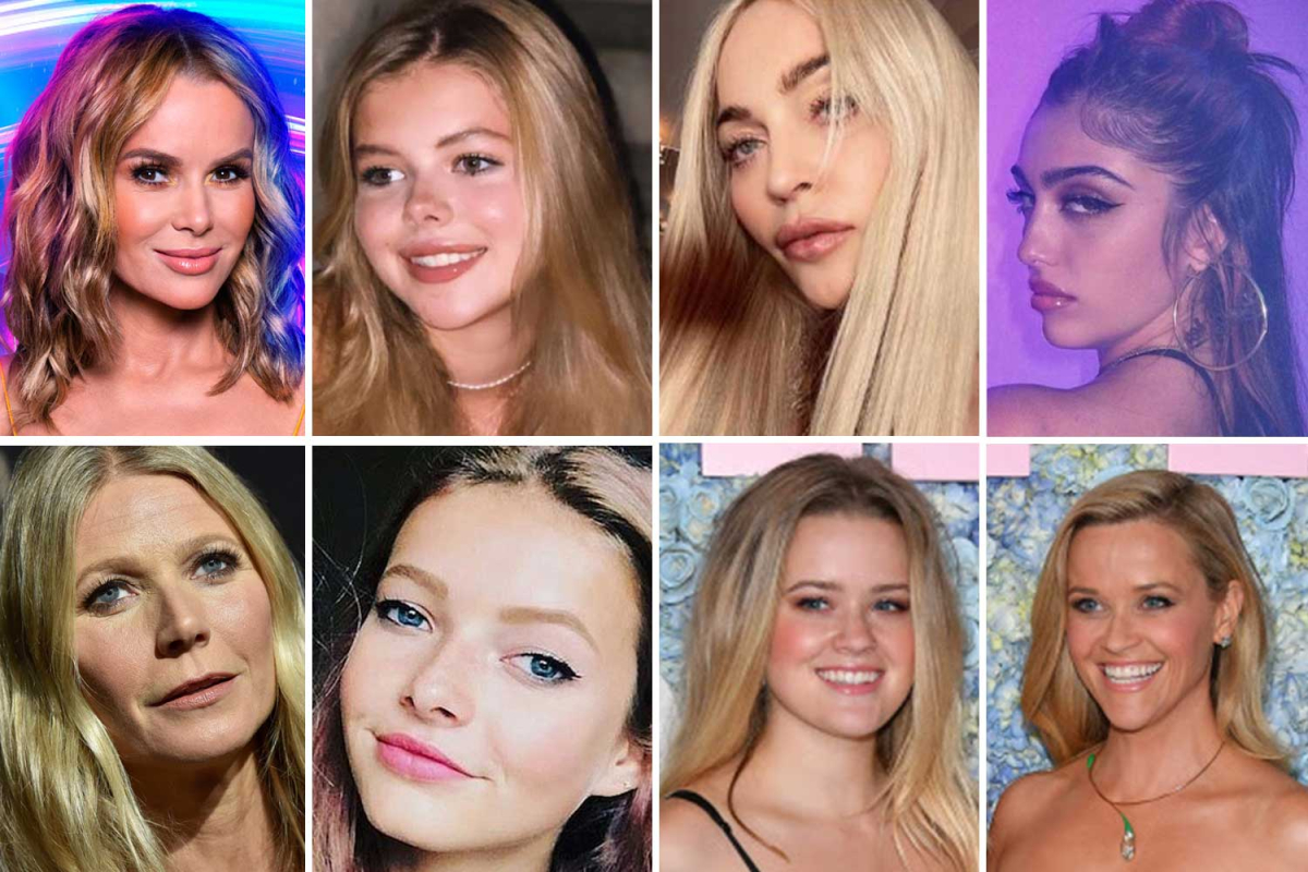 Celeb mums who are rolling back the years to look like their daughters after Madonna copies Lourdes selfie