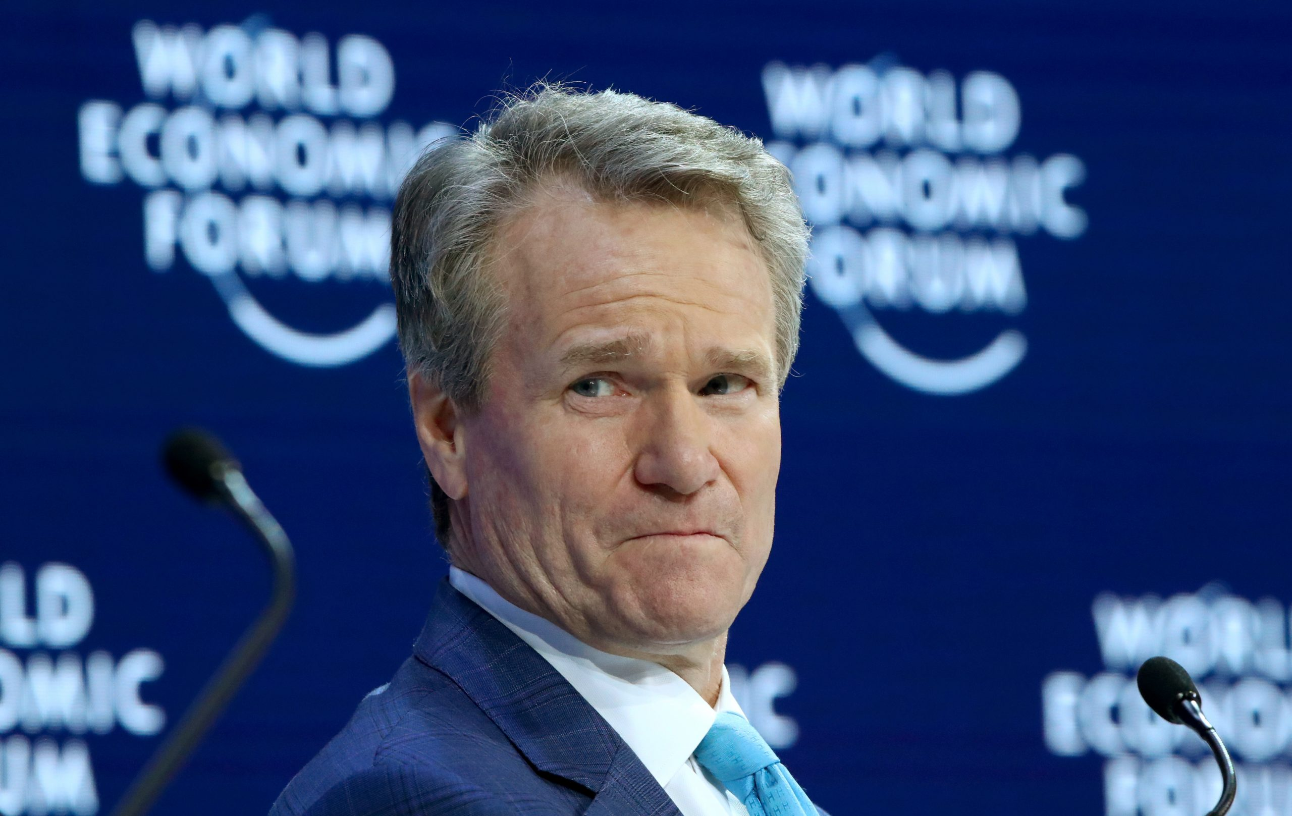 Chairman and CEO of Bank of America Brian T. Moynihan attends a session at the 50th World Economic Forum (WEF) annual meeting in Davos, Switzerland, January 21, 2020. REUTERS/Denis Balibouse/File Photo