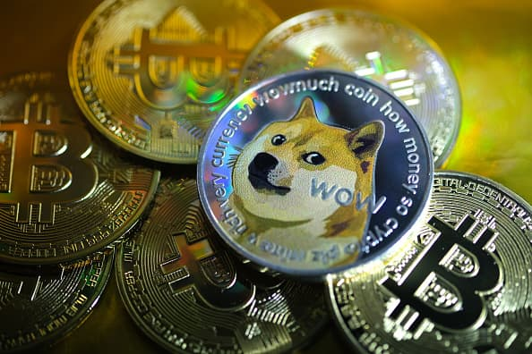 Dogecoin surges 30% to a record above 50 cents as speculative crypto trading continues