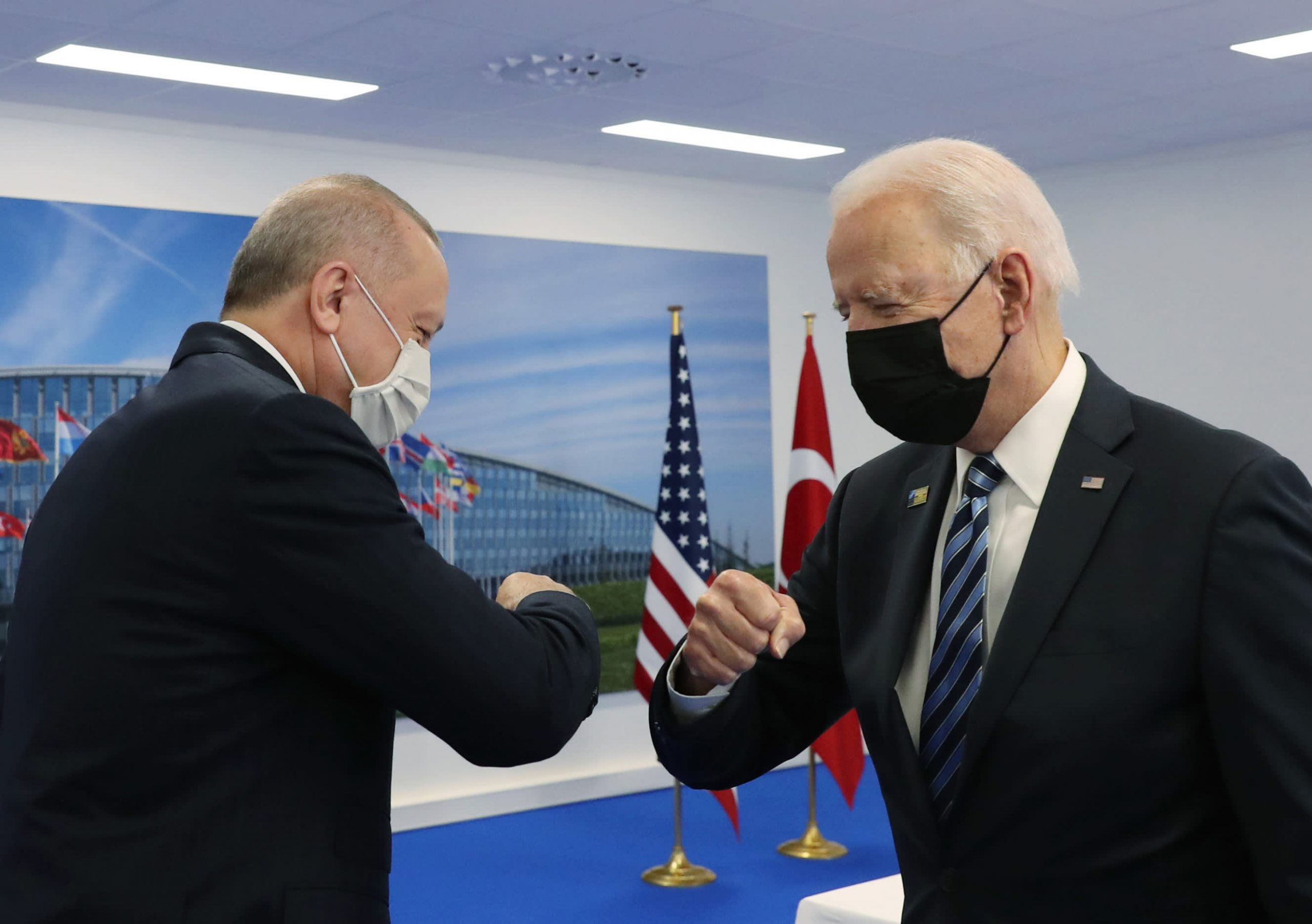 Erdogan sticks to position on Russian missile deal after meeting with Biden