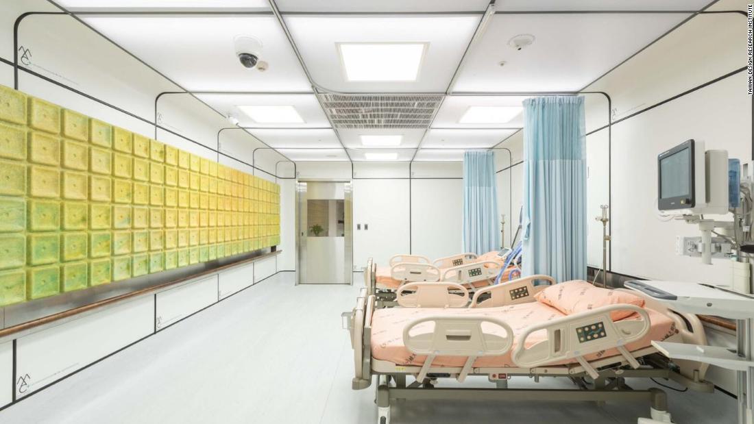 Arthur Huang has created a hospital ward made from trash