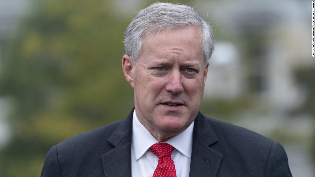 New York Times: Trump's chief of staff Mark Meadows pushed DOJ to investigate baseless election fraud claim