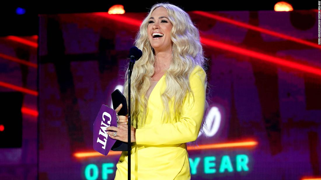 Carrie Underwood & John Legend win Video of the Year at CMT Music Awards