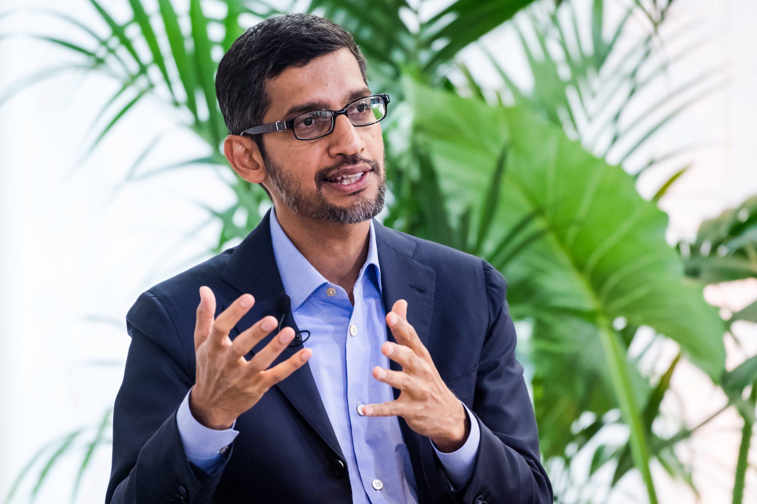 Meeting Google's climate change goals 'stresses out' CEO Sundar Pichai