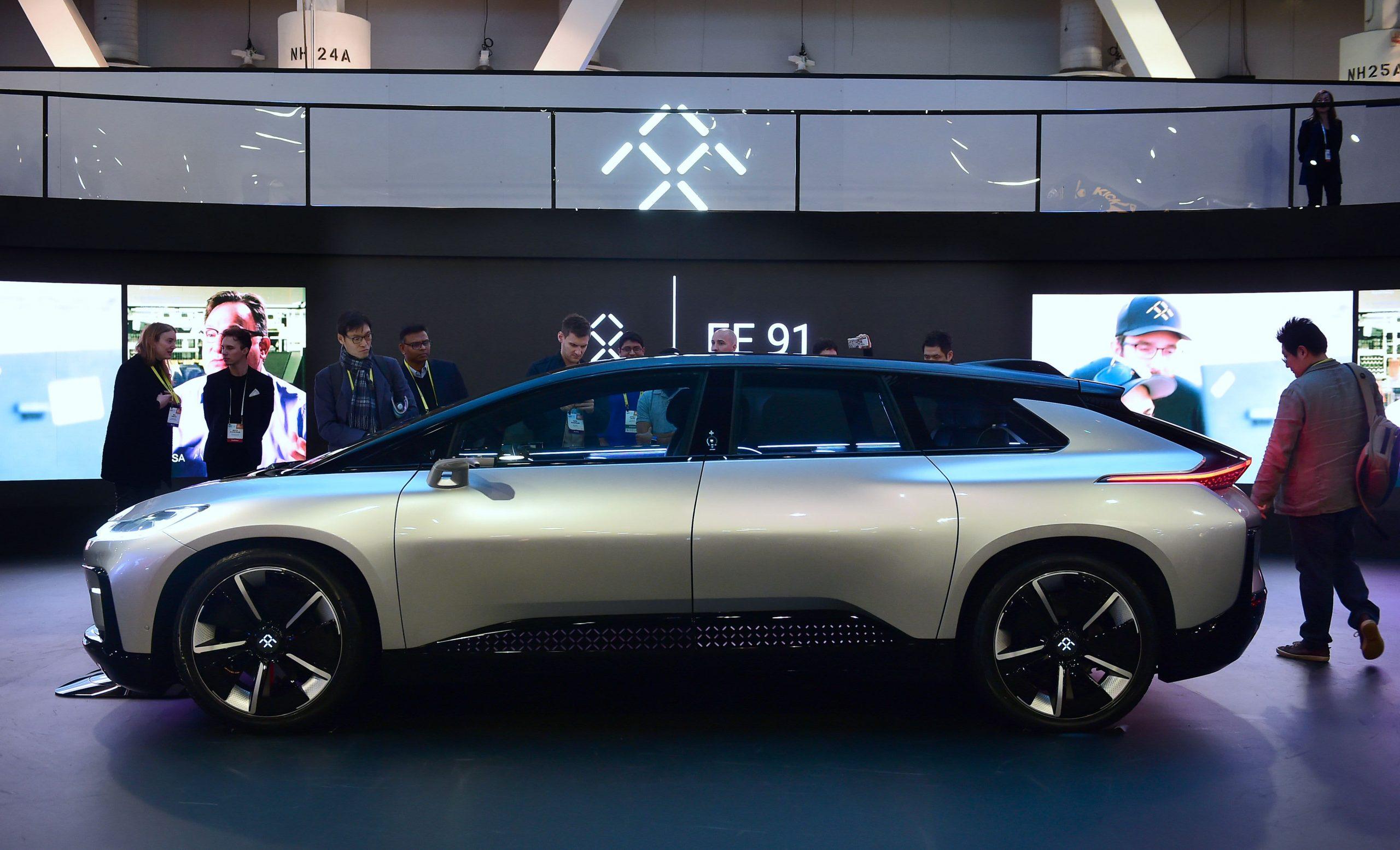 Embattled EV start-up Faraday Future's shares pop on Nasdaq debut