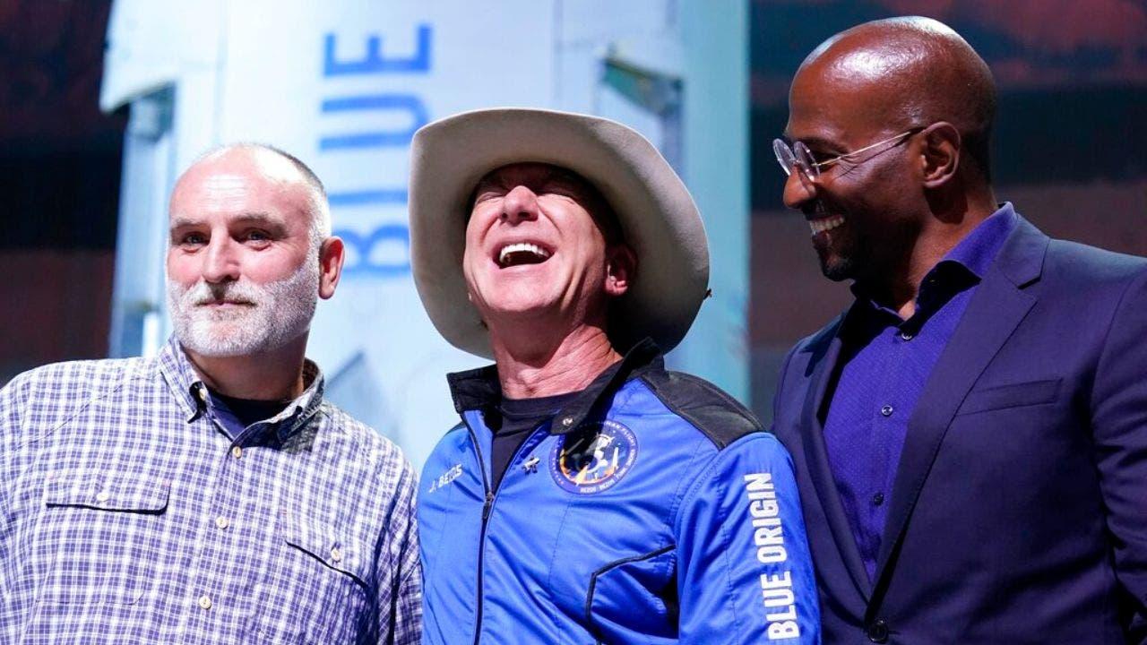 Jeff Bezos giving $100 million to José Andrés, Van Jones after Blue Origin rocket flight