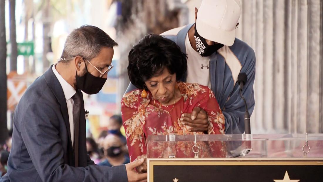 Marla Gibbs okay after scary moment during Hollywood Walk of Fame unveiling