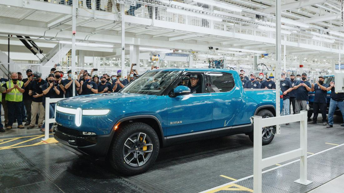 Startup Rivian is first to build an electric pickup