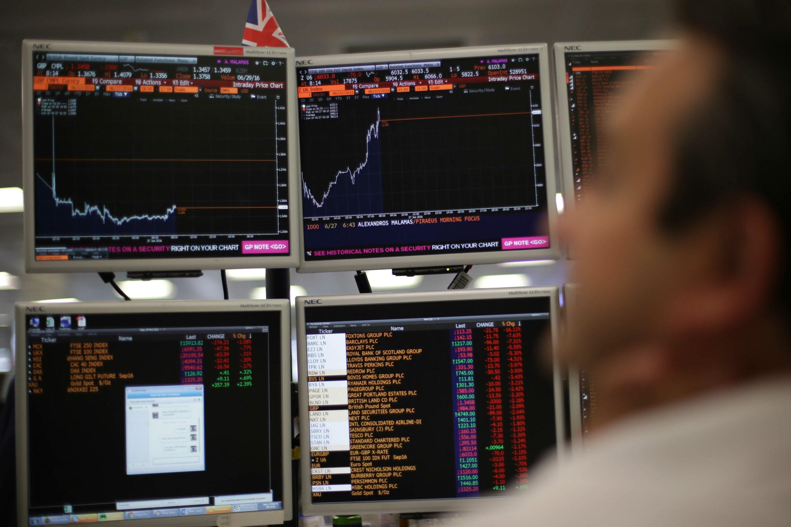 European markets close mixed after a choppy week; miners gain